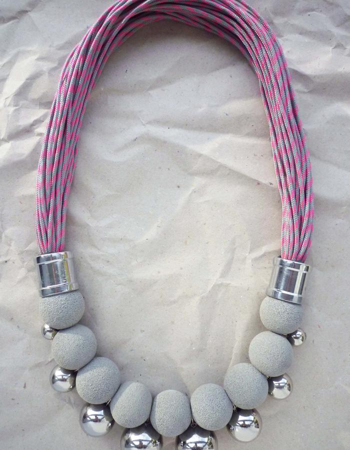 Fove Necklace pink silver