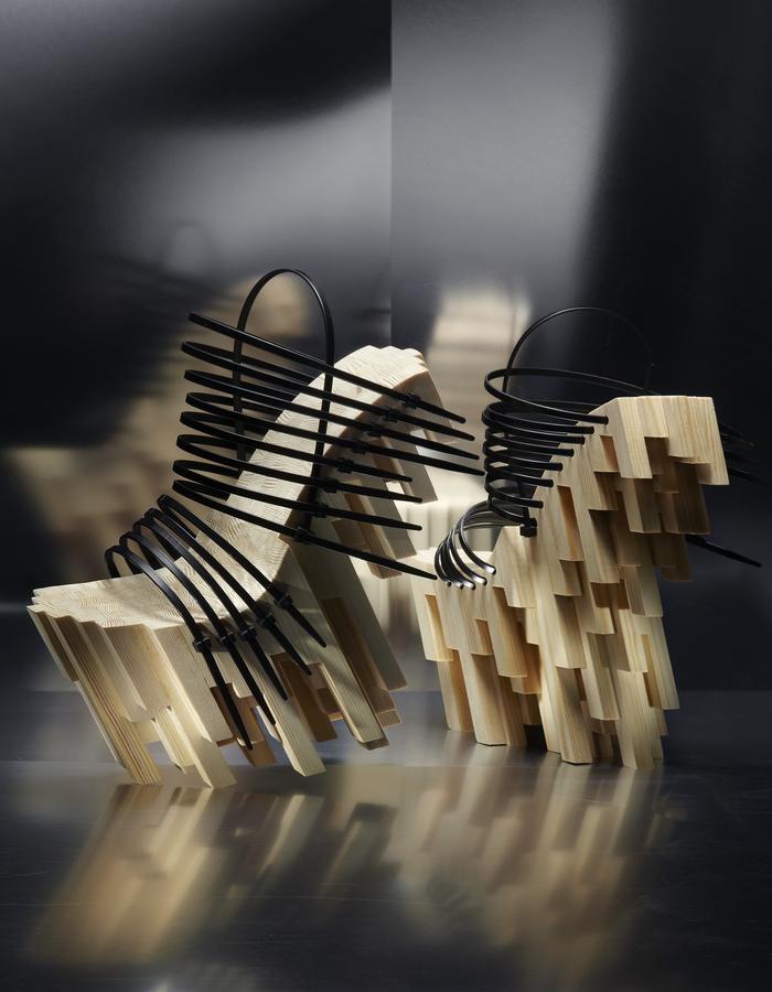 Bamboo Heels with tie-raps