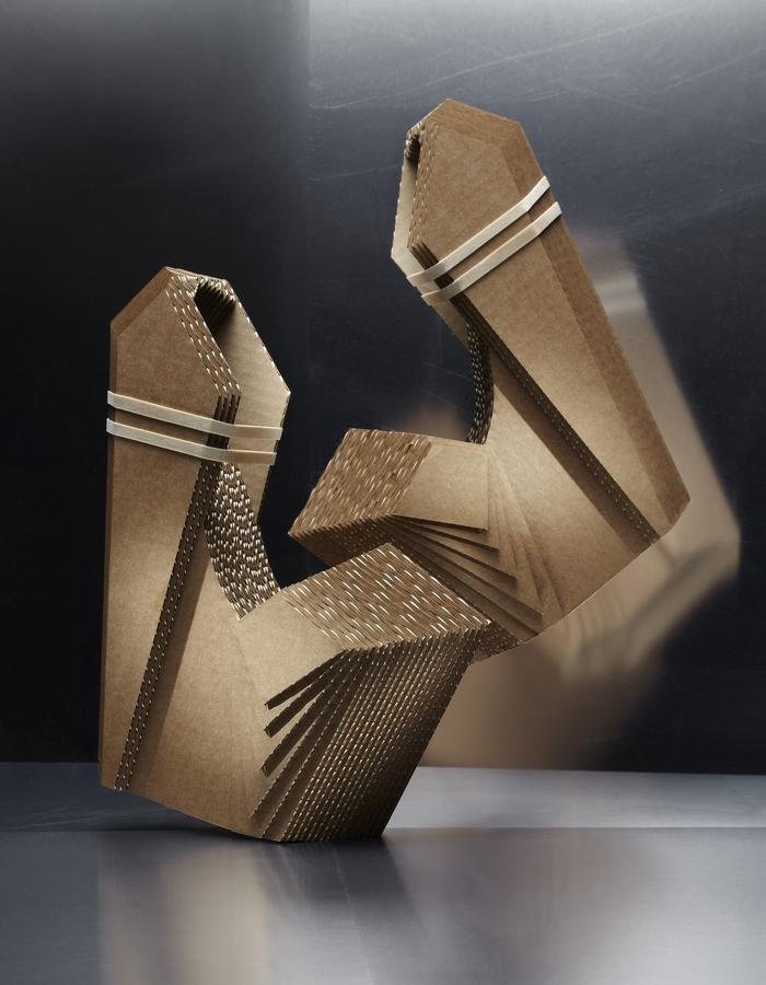Facet Heels made of cardboard