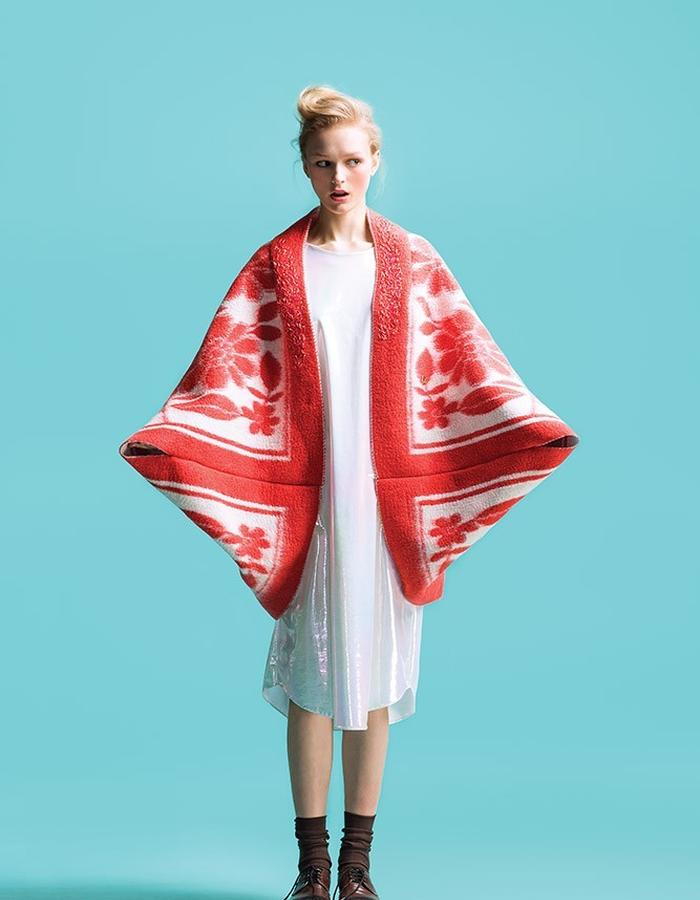 LONGING FOR SLEEP BY MARIT ILISON VINTAGE COLLECTION RED COAT
