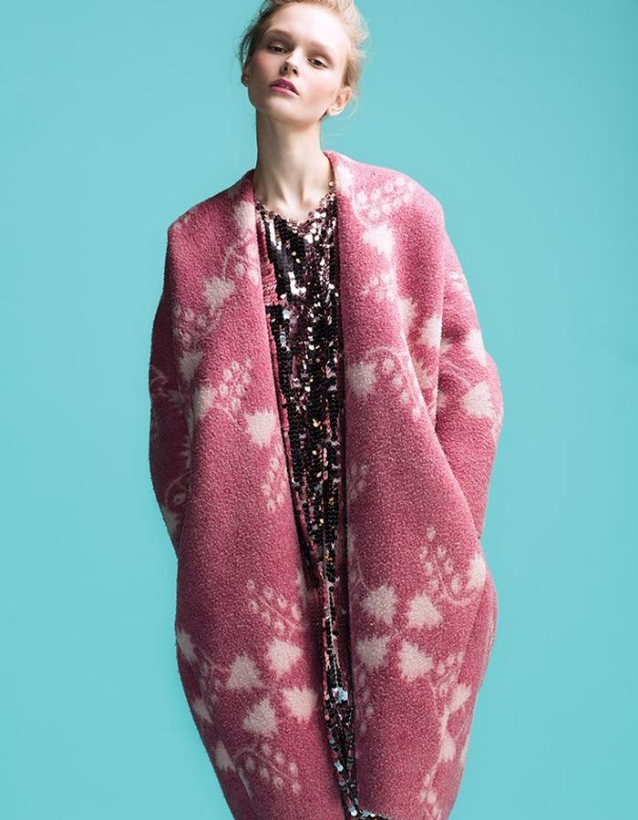 LONGING FOR SLEEP BY MARIT ILISON VINTAGE COLLECTION PINK COAT