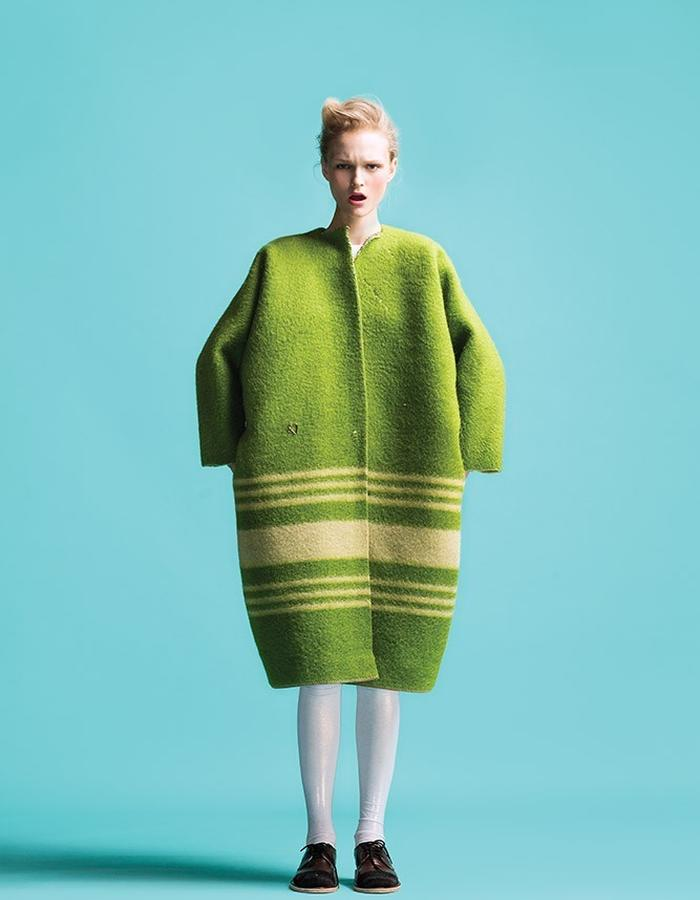 LONGING FOR SLEEP BY MARIT ILISON VINTAGE COLLECTION LIME COAT