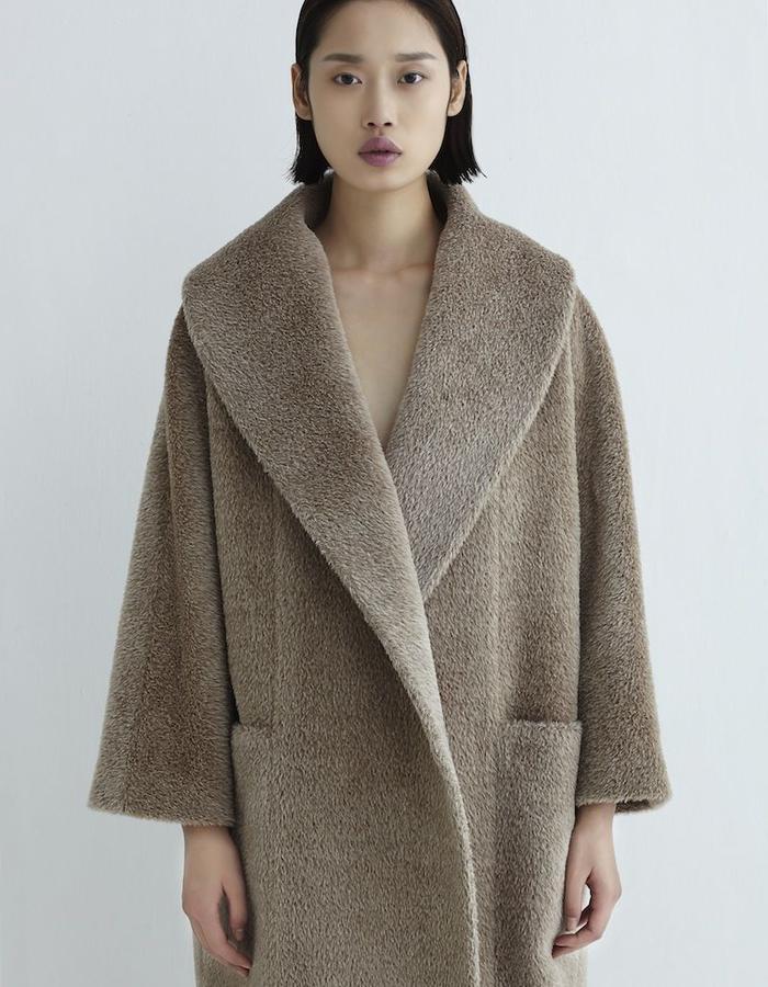 Hazel Coat Mohair