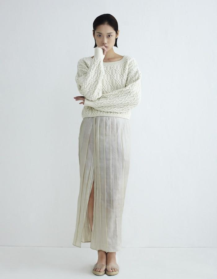 Pina Knit Sweater Creme