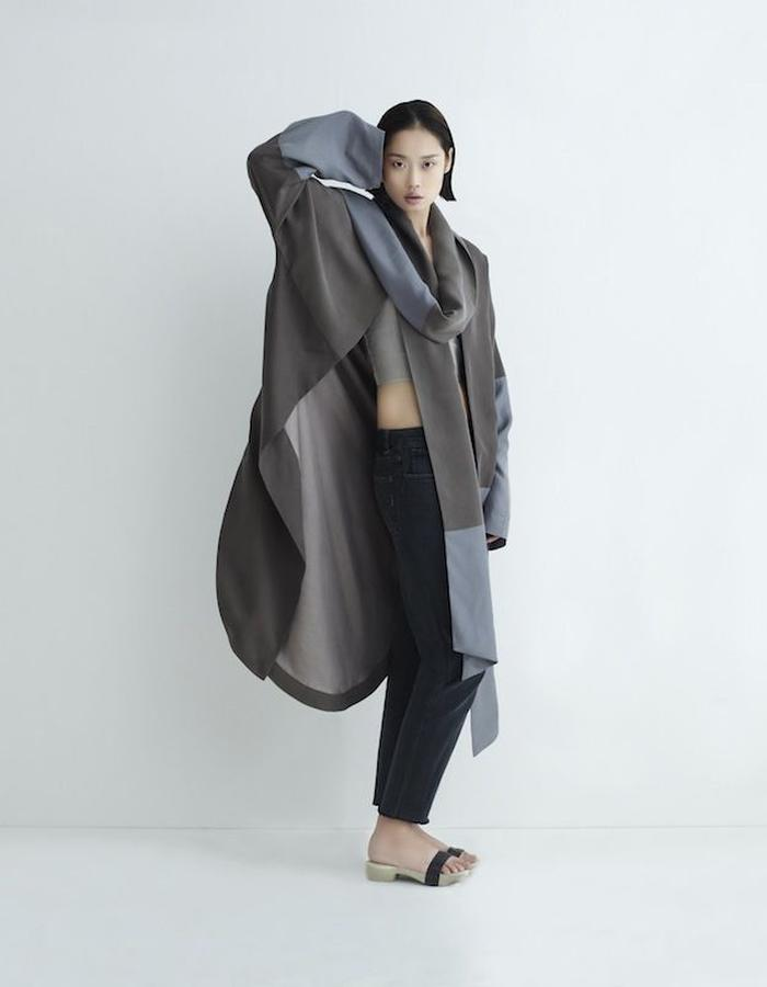 Eartha Scarf Coat Silk