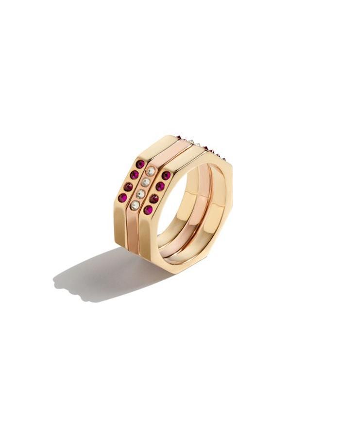 Diaboli Kill Jewelry Womens Octavian Tryptych Ring