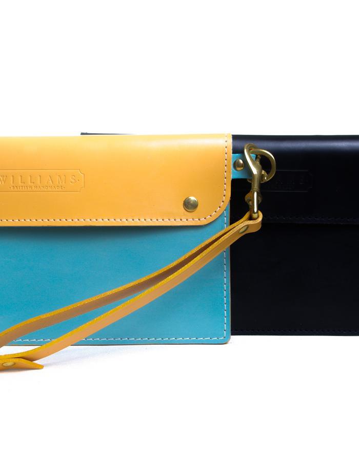 Risbury clutch with wristlet