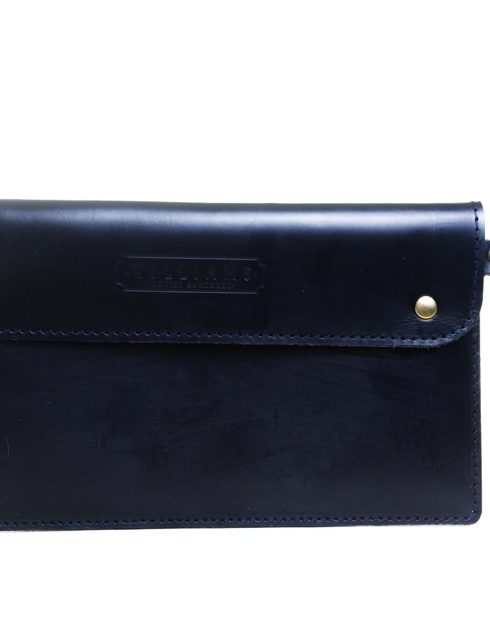 Risbury clutch with wristlet Navy