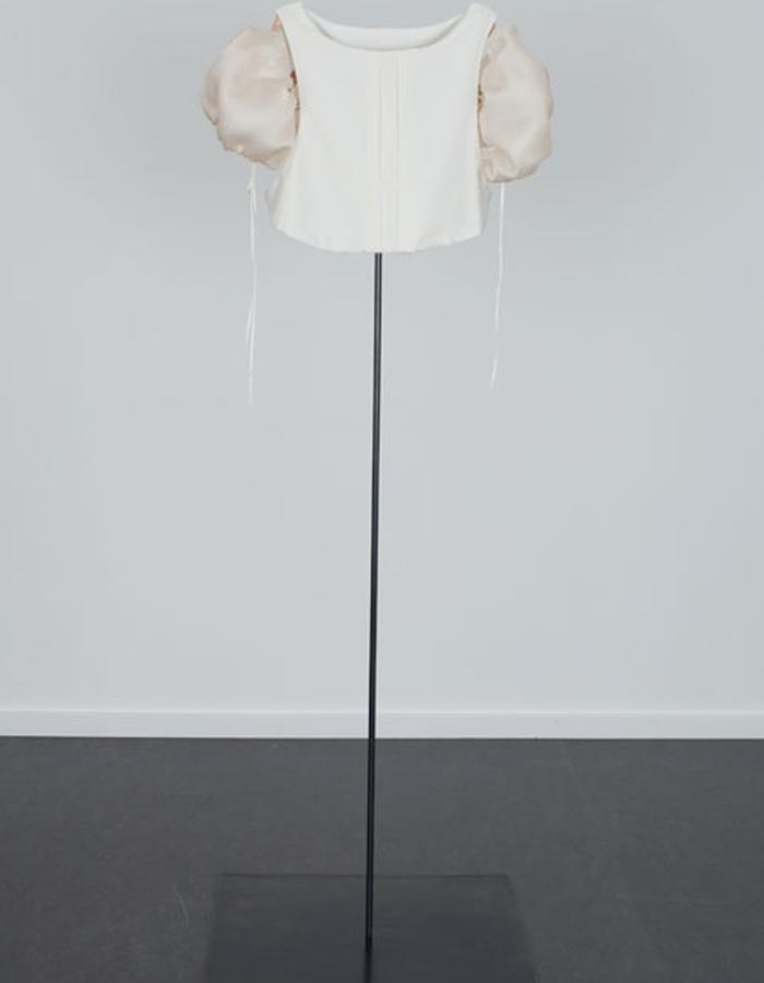 Shield Shirt with Silk Organza Sleeves