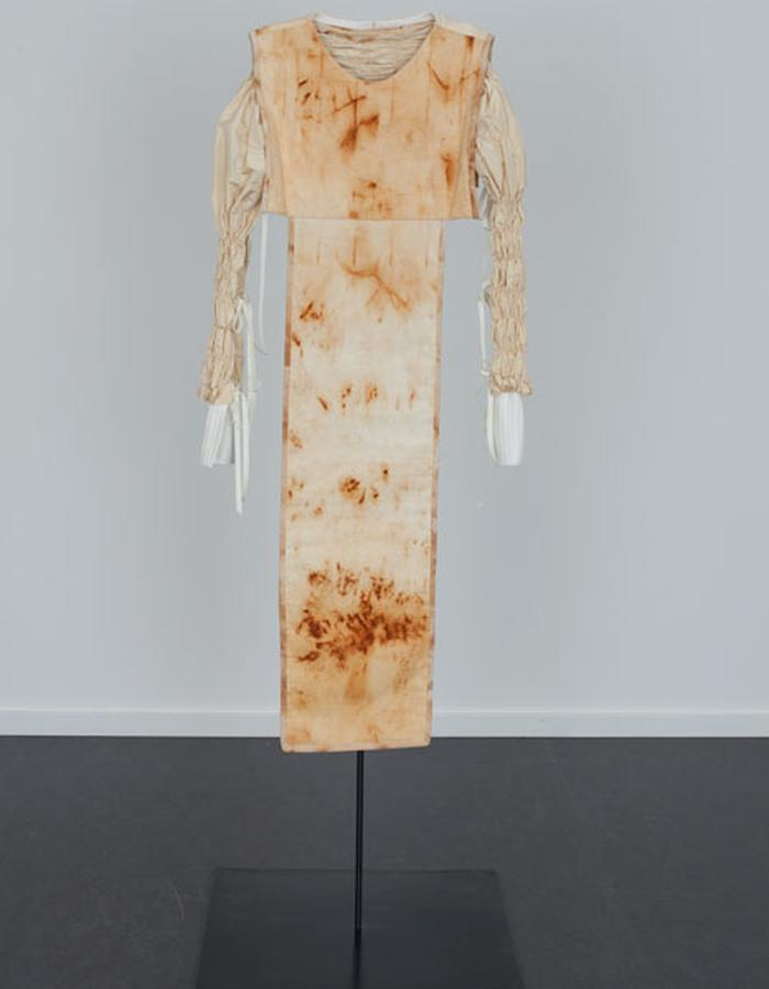 Rusted Tunic with Knife Pleats