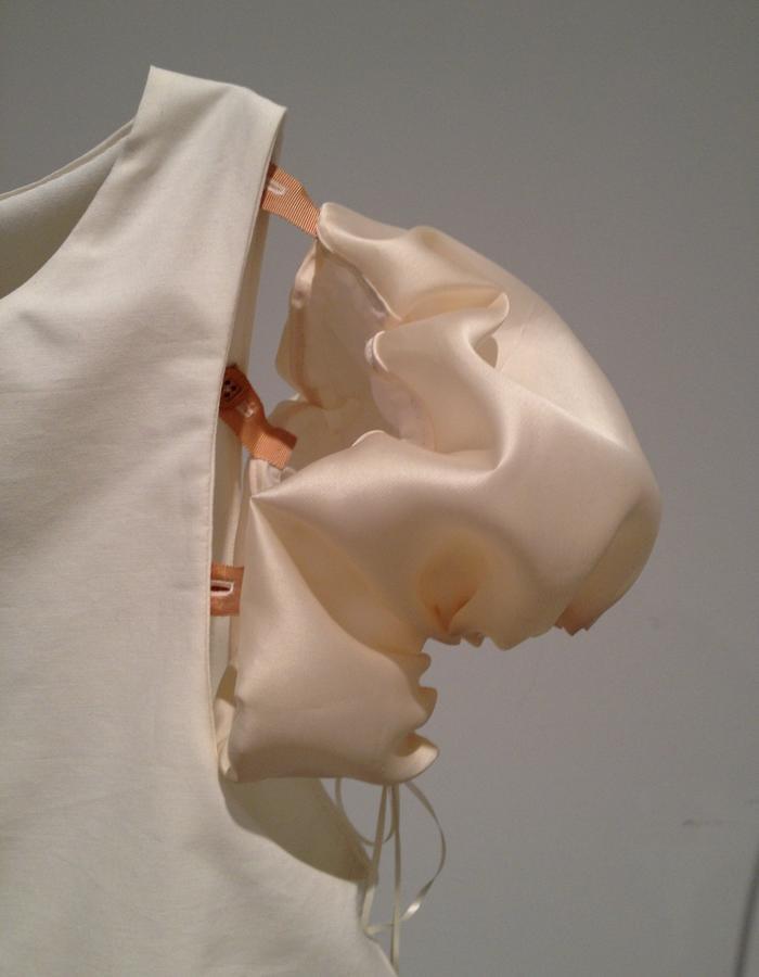 Shield Shirt with Silk Organza Sleeves (Detail)