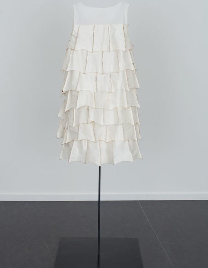 Singed Silk Dress