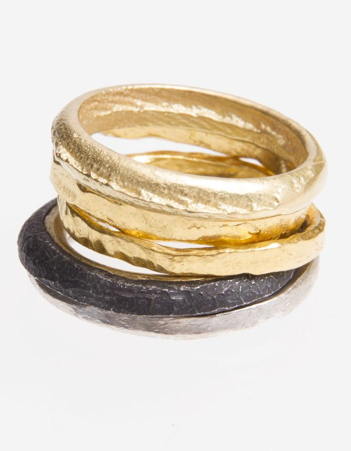 Gold and iron ring stack