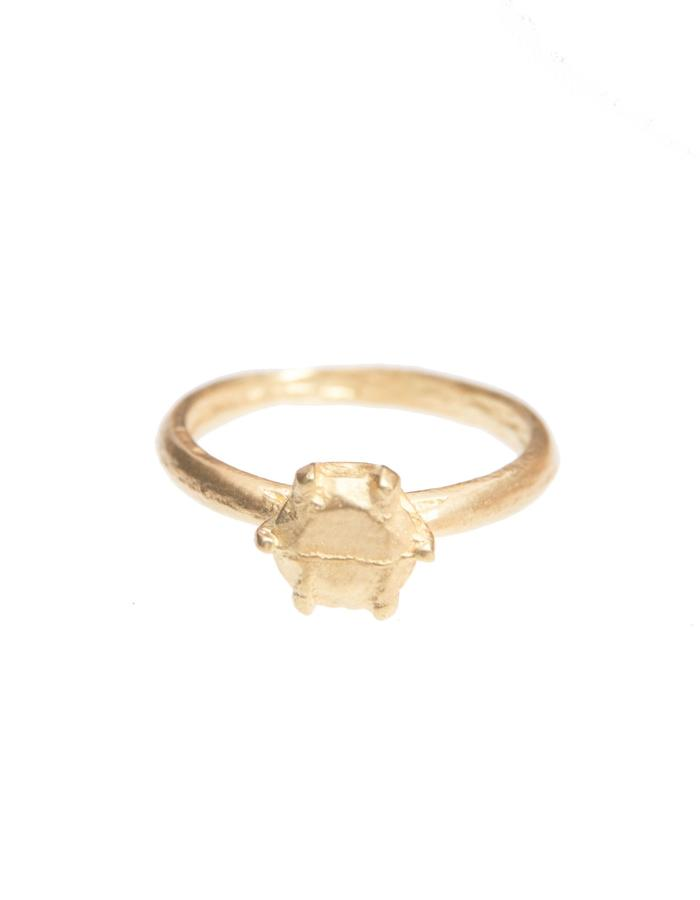 Solid Solitaire ring 18ct Gold