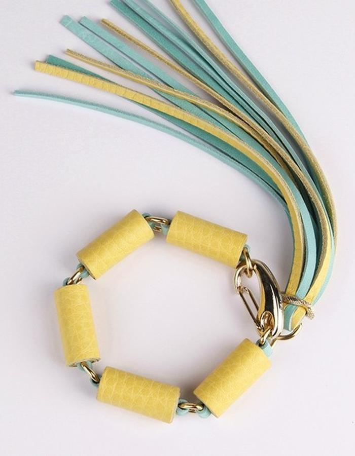 Yellow - Mint bracelet / SENSE OF SEASONS