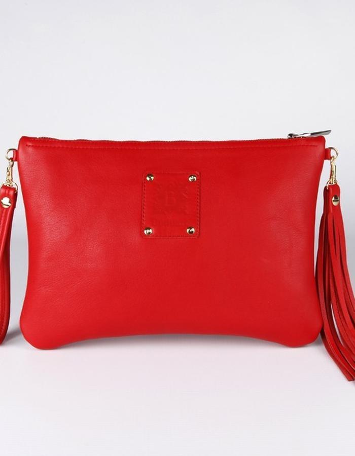 Red - Flame clutch bag / SENSE OF SEASONS