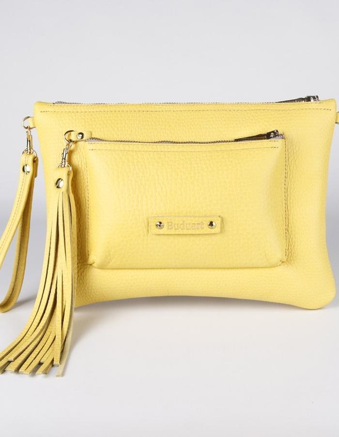 Yellow - Mint clutch bag / SENSE OF SEASONS