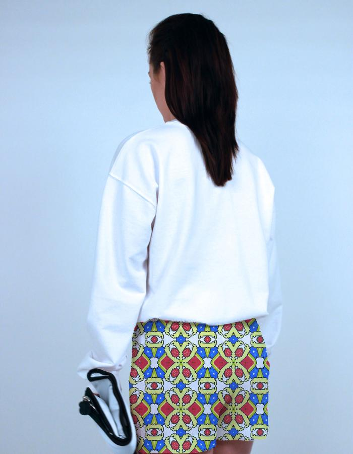 Melon Ball print on shorts. Photograph by Emily May Photographic