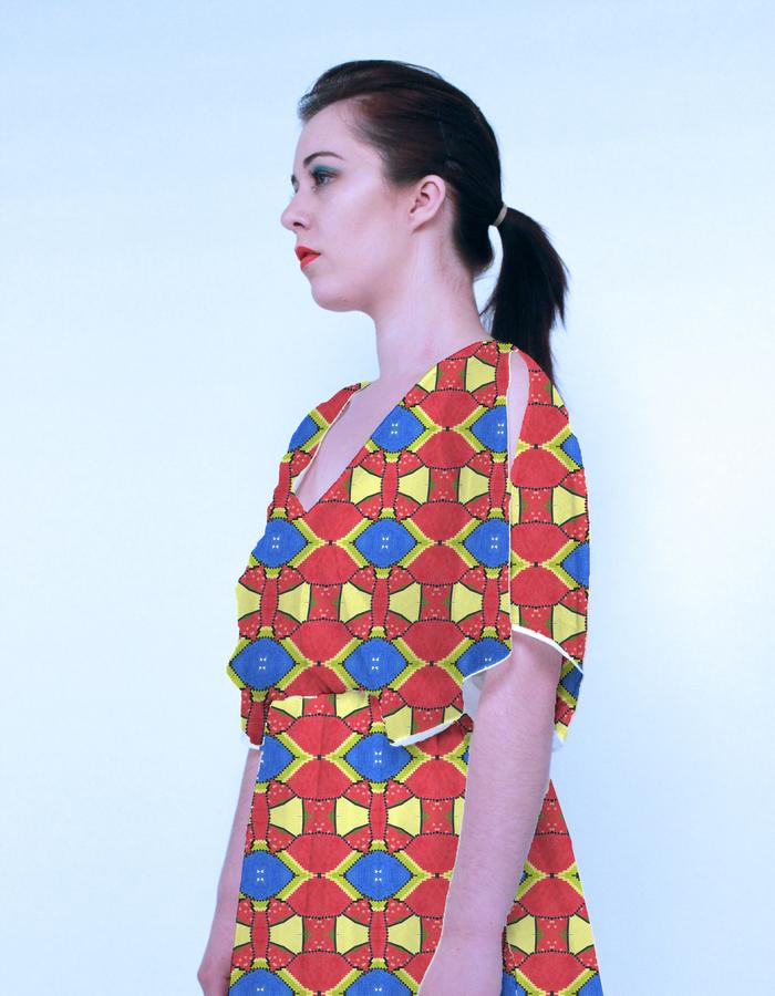 Very Berry Print on kaftan. Photograph by Emily May Photographic.