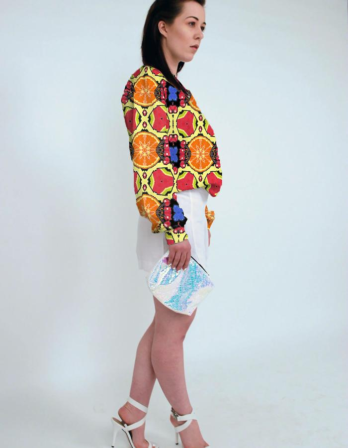 Fruit Punch Print on sweatshirt. Photograph by Emily May Photographic