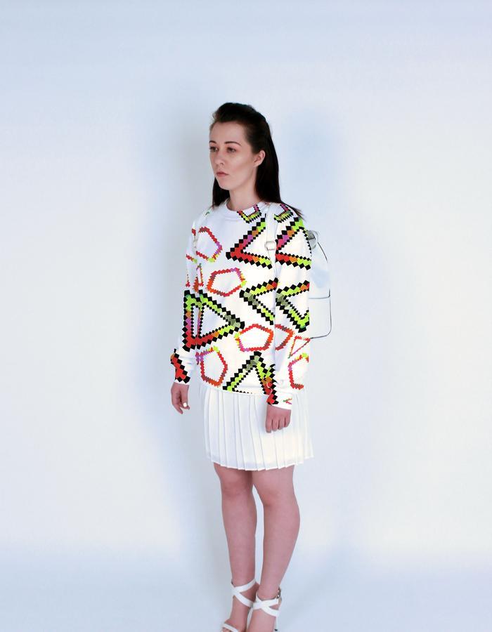 RanPix print on sweatshirt. Photograph by Emily May Photographic.