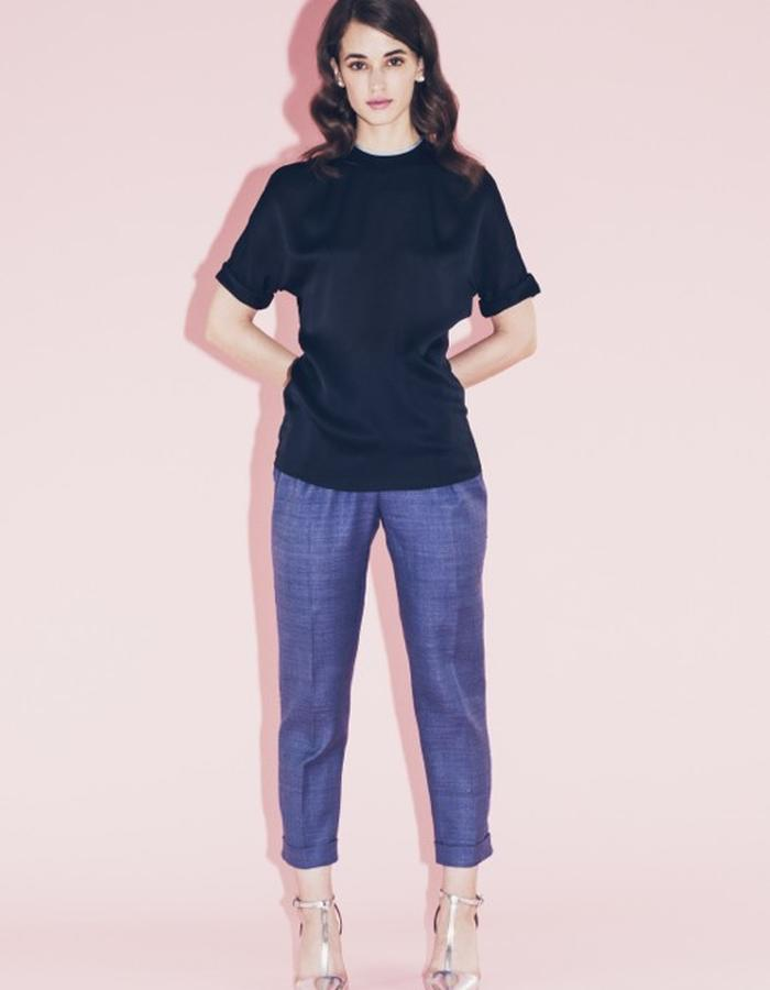Lilly Ingenhoven SS15 silk pants and t-shirt