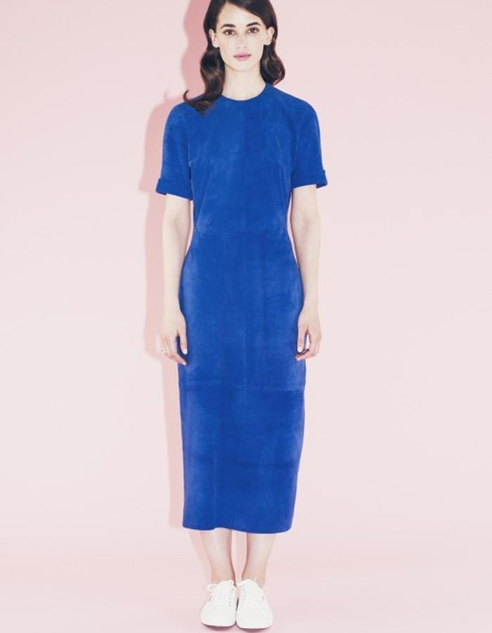 Lilly Ingenhoven SS15 yves blue leather dress