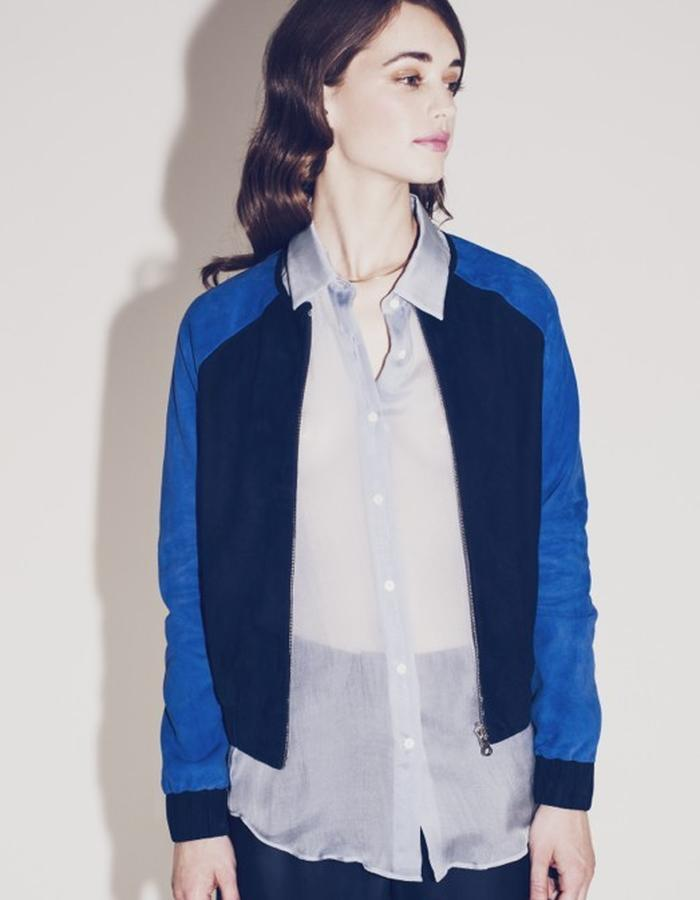 Lilly Ingenhoven SS15 reversible leather and silk blouson