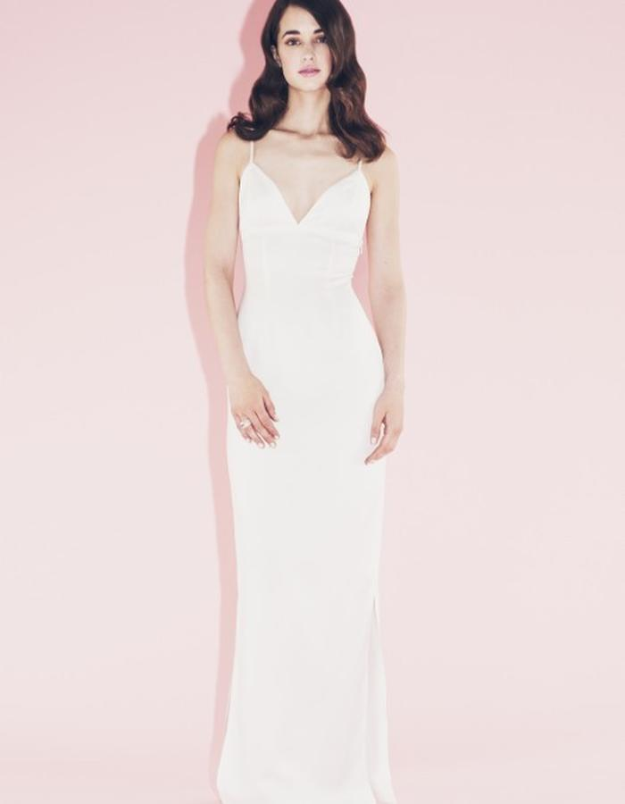Lilly Ingenhoven SS15 white gown, wedding