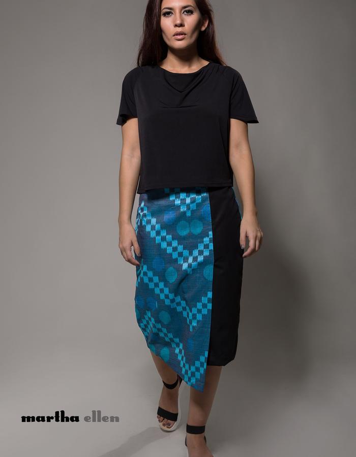 Tuti handwoven ikat skirt by Martha Ellen