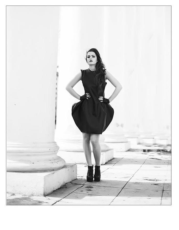 #black #dress #futuristic #women #dark #side