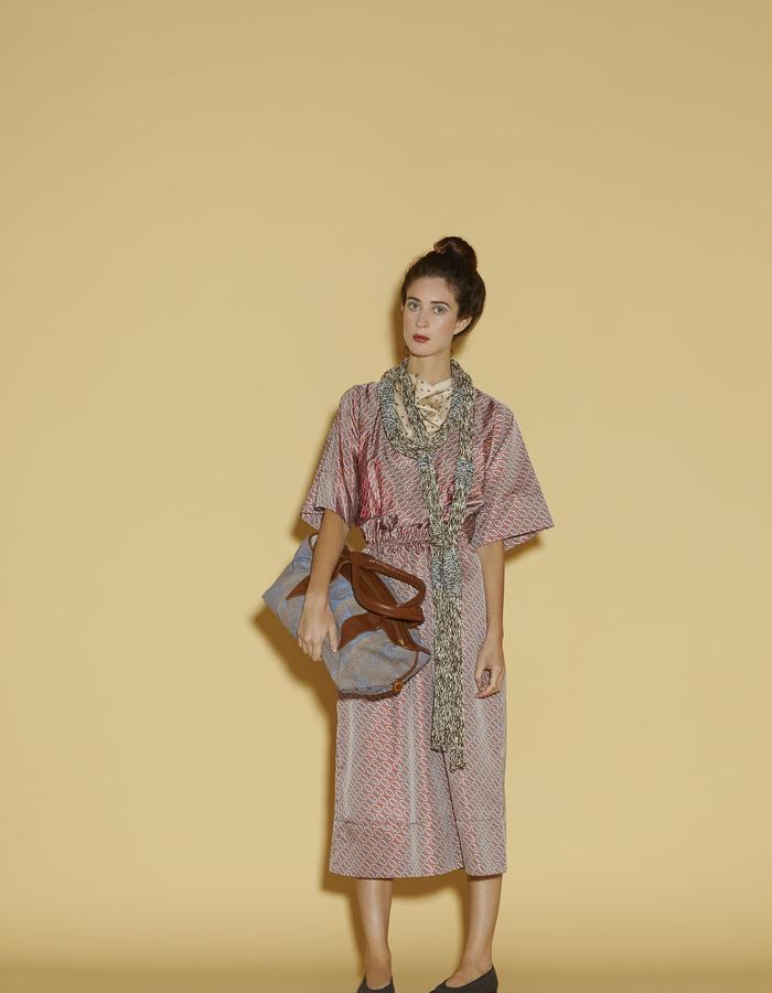 KIMONO DRESS WITH BAG