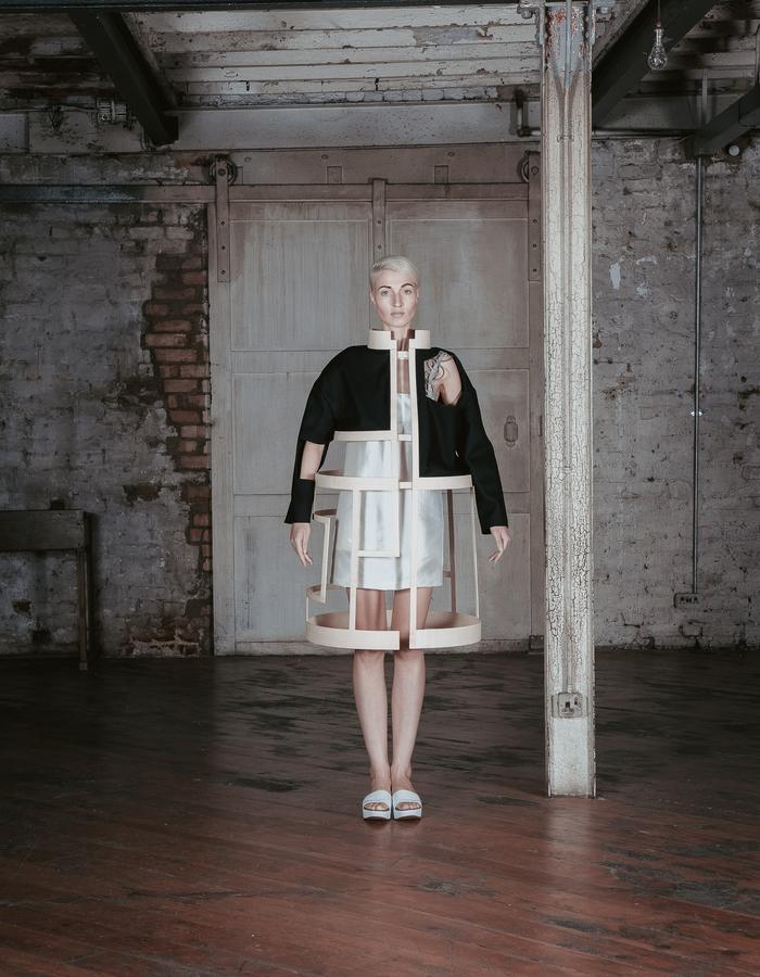 Charlotte Ham Void Wooden Coat