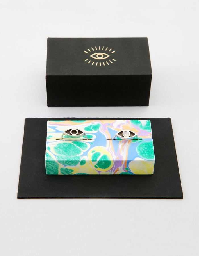 Pair of Eye RIngs in box