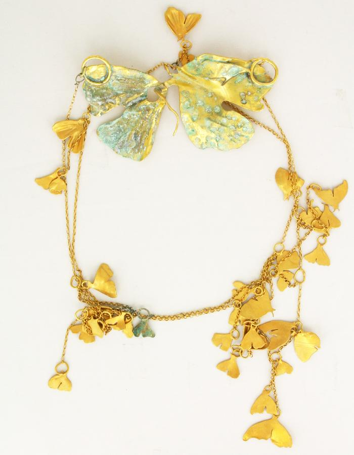 necklace Butterfly Fever, goldplated silver and copper, 2014