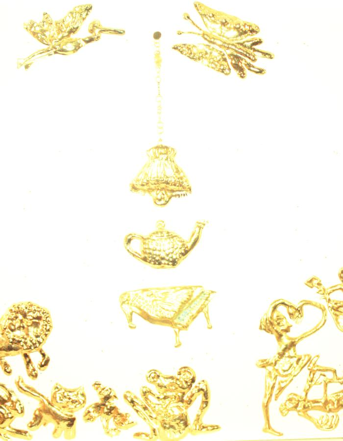 brooches Disco Jungle, gold plated copper, 2014