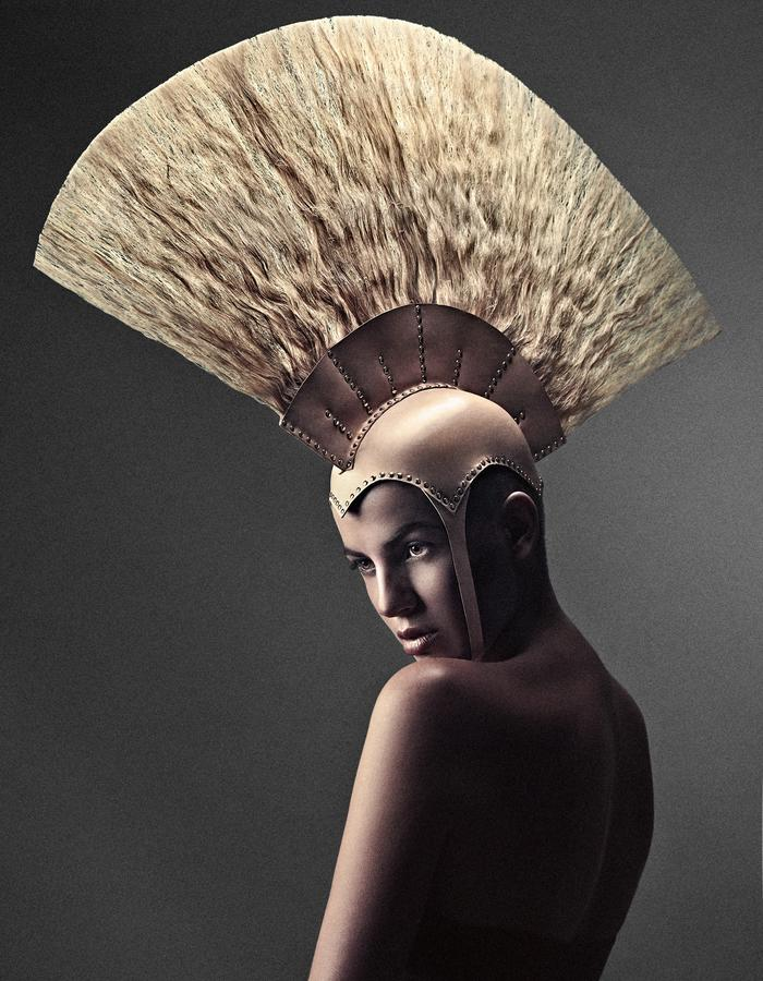 Leather / Hair Headpiece by YVY x PKHC