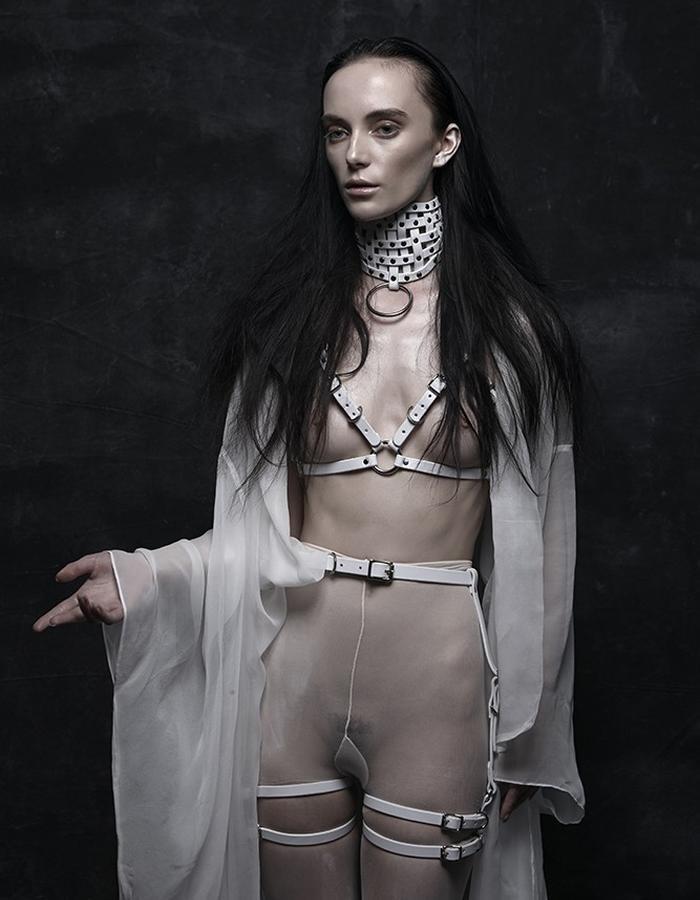 woven choker, Bra harness & Suspender harness