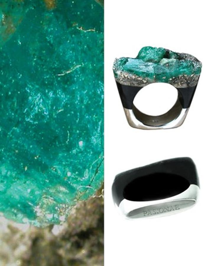 Of a Kind Emerald and Silver Ring_Delight_Handcrafted by Pasionae