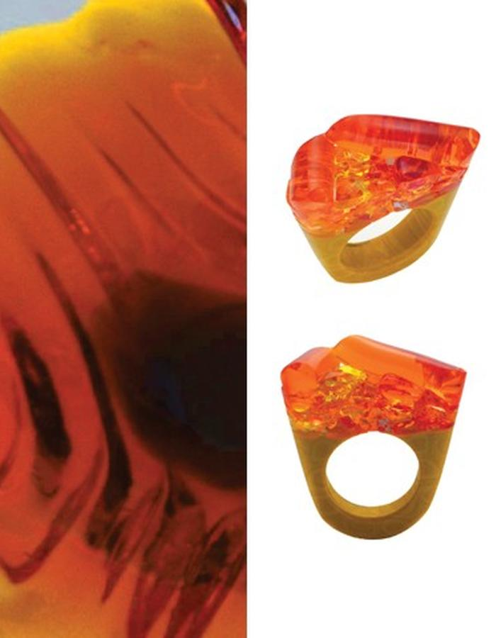 Of a Kind Murano Glass Ring_Hatred_Handcrafted by Pasionae