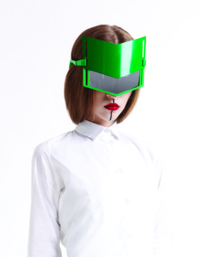 3D printed glasses with sliding metal cover