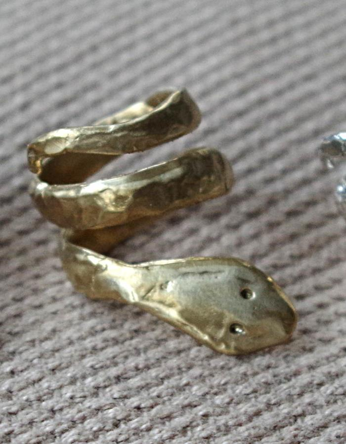 bronze and silver rings