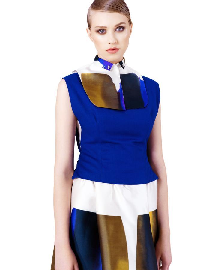 Blue Canvas Collar