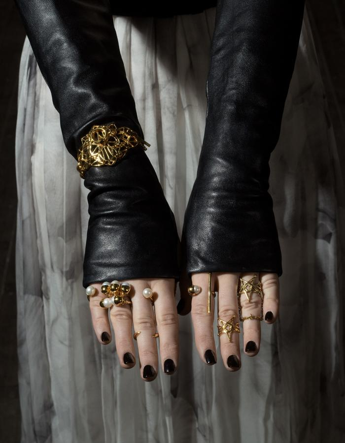 Gisele Ganne Crusade Spear skull ring