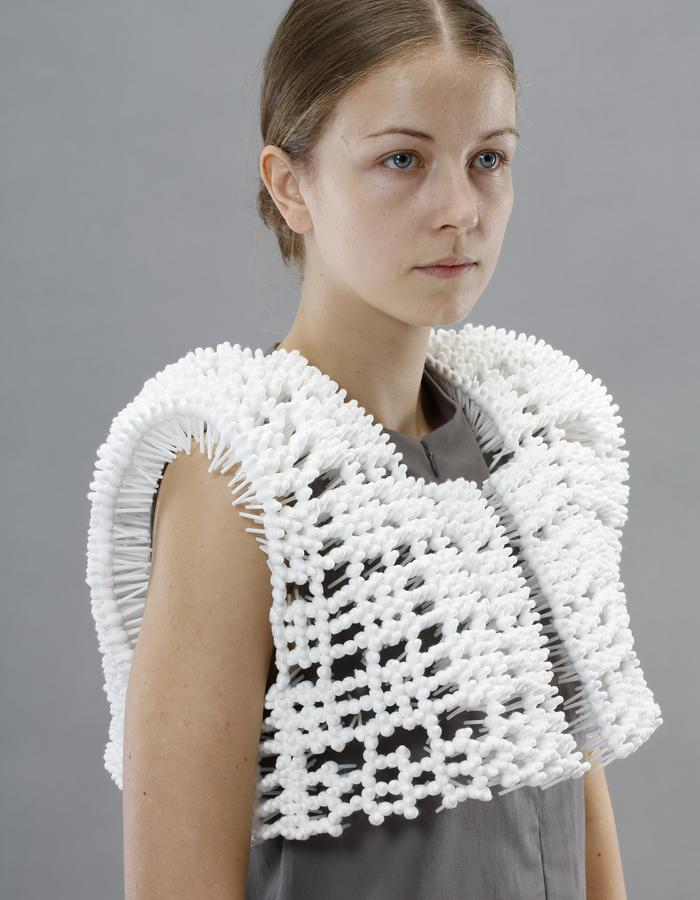 costume made of cotton buds 2014