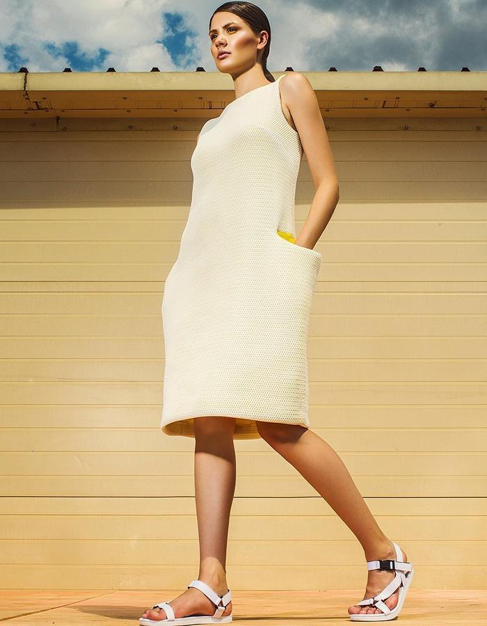 dress with decorative pockets