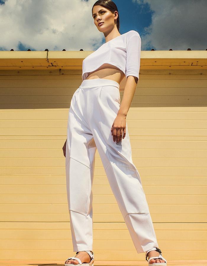crop top & trousers