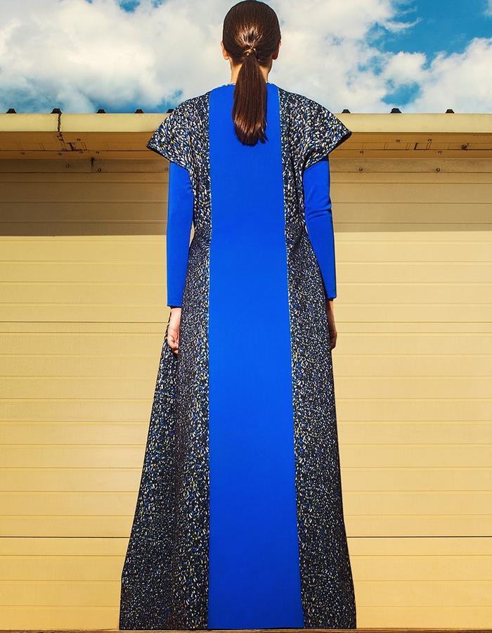 floor length dress & turtleneck