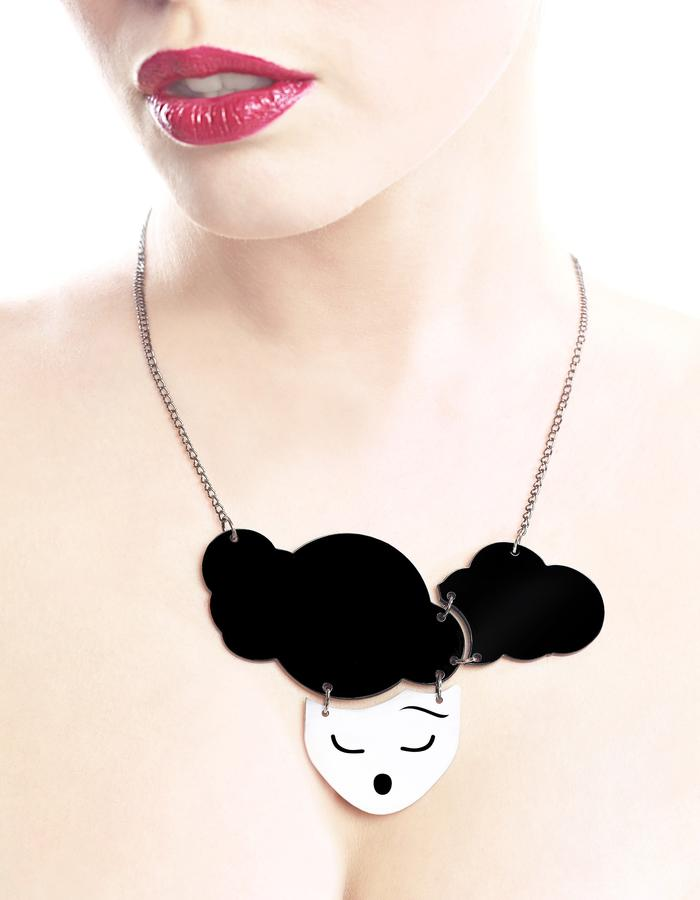 Head in the clouds necklace by LIFE IN MONO Jewelry
