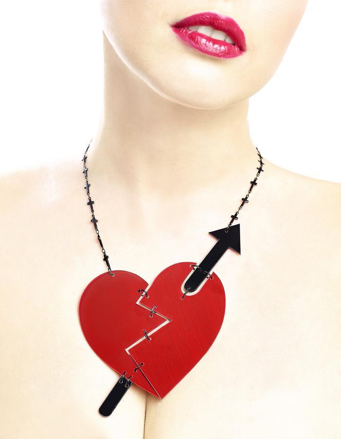 Heart breaker necklace by LIFE IN MONO Jewelry